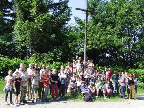 Gruppo parrocchiale in pellegrinaggio a Montesenario